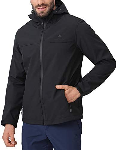 CAMEL CROWN Softshell Jacket Men Hooded Fleece Lined Outdoor Jackets Windproof Water Resistant product image