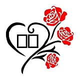wivarra Family Love Rose Wall Decals 3D DIY Photo Frame Wall Stickers Mural Home Decor
