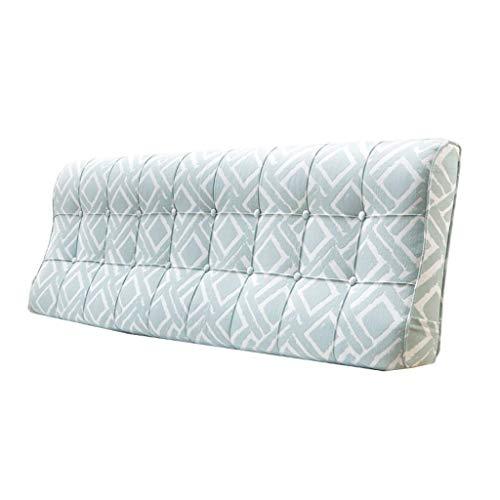DX bed zacht pak map, dubbel bed massief hout grote kussens, slaapkamer riem lezen en rust kleding stofwasbaar 3 kleuren, 6 maten (kleur: groen, maat: 120 CM)