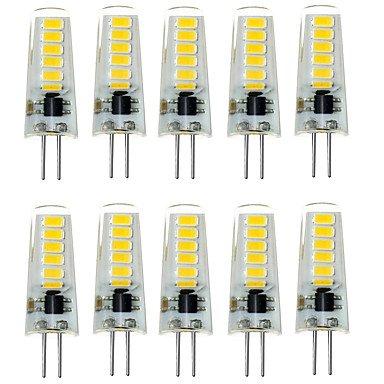 7W G4 LED Doppel-Pin Leuchten T 12 SMD 5733 500-600 lm Warmes Weiß/Kühles Weiß Dekorativ/Wasserdicht DC 12 V 10 Stück, warm white