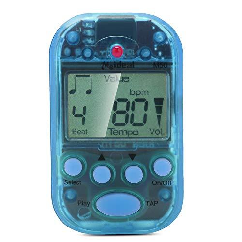 Mini Metronom, LCD Digital M50 Metronom Tragbares Clip-On Beat Tempo Metronom für Klavier, Violine, Gitarre, Trap Drum(Blau)