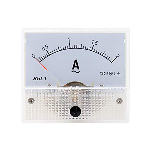 Sweo Zeiger-Ameter, 85L1 AC Panel Meter Analog Panel Amperemeter Dial Current Gauge Pointer Amperemeter, 2A, One size