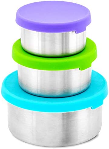 WeeSprout 18 8 Stainless Steel Food Storage Containers Set of 3 Metal Food Storage Containers product image
