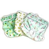 PET MAGASIN Pañales Reutilizables para Perros [Paquete de 3] Pañales Sanitarios para Mascotas, Altamente absorbentes, Lavables a máquina y ecológicos (Pattern, L)