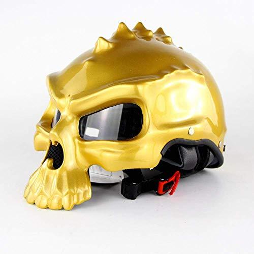 Amazon.es: Casco de moto abierto, casco retro personalizado ...