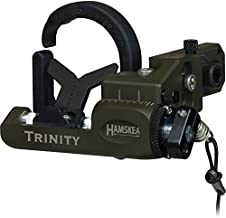 Hamskea Archery Solutions Trinity Hunter Pro Right-Handed Micro Tune Fall Away Arrow Rest for Bowhunting, OD Green
