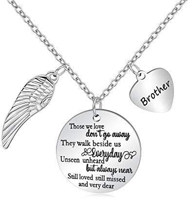 Memorial Necklace for Loss of Loved One Mother Father Husband Remembrance Sympathy Jewelry Gift for Women In Memory of Bereavement Grieving Condolences Gifts Necklaces
