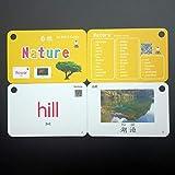 WanTo 32Pcs / Set Learning Family English & Chinese Word Card Mesa Montessori Juego FlashCards con Voz Juguetes educativos Regalos para niños, Naturaleza