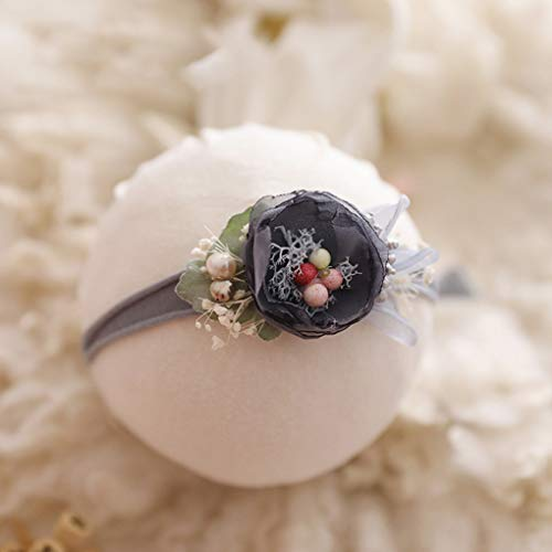 Centitenk Wuqiong Baby-Fotografie Kopfschmuck Baby-Mädchen-Foto-Haarspange Kinder Infant Handregulierkopf Blumen Neugeborenes Foto Prop-Haar-Band-Zubehör