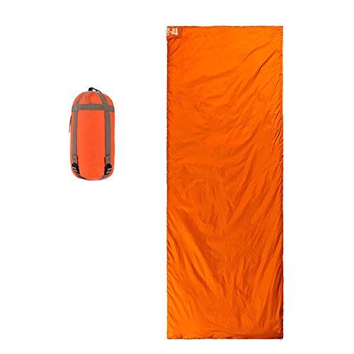 Z-H-C Sac De Couchage Pour Adultes En Polyester Ripstop, Sac De Couchage À Enveloppe Unique Pour Le Camping - Compact Et Léger Résistant À L'eau Pour Un Sommeil Confortable Et Chaud ( Color : Orange )