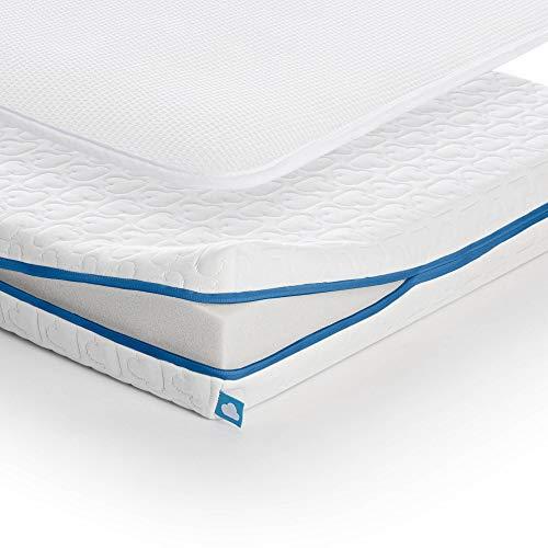 Aerosleep EVOLUTION Pack - Colchón y protector de colchón de espuma fría para un apoyo óptimo de la espalda, 80 x 40 cm