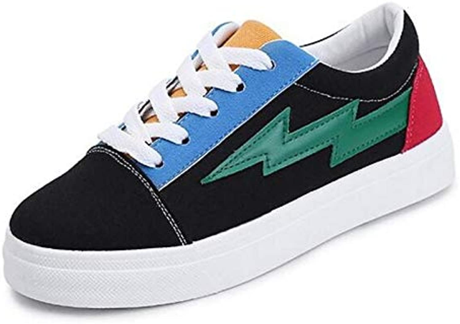Women's shoes Canvas Spring Fall Comfort Sneakers Creepers White Green