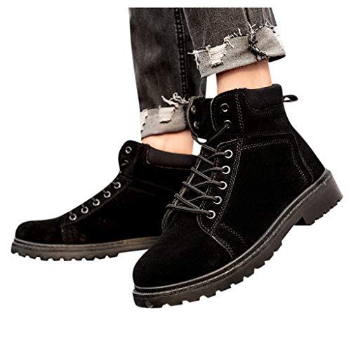 Jujiashoes stivaletti uomo stivaletto uomo pelle sneaker alte uomo scarpe sportive scarpe waterproof uomo stivaletti con lacci scarpe per lavoro camminata Scarpe da Trekking Traspirante