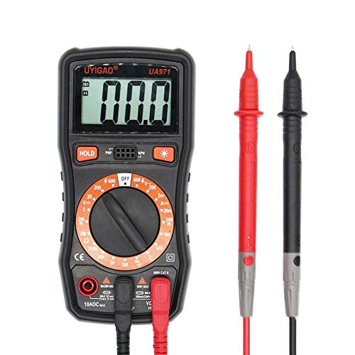XIAOFENG-R Digital-Tester UA971 LCD-Display Digital-Handmultimeter AC/DC-Spannung DC-Strom Widerstand Temperaturtransistor HFE-Messung Messgerät