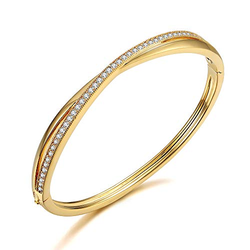 Italina Bangle voor Damesmode Armband Sieraden Klassieke Kruis Armband Trouwring voor Dames Meiden Verjaardag Verjaardagscadeau
