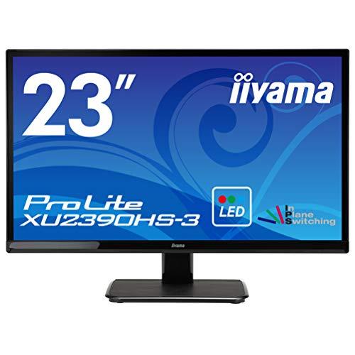 iiyamaディスプレイ モニター 23インチ XU2390HS-B3/フルHD/スリムベゼル/HDMIx1/DVI-Dx1/D-subx1