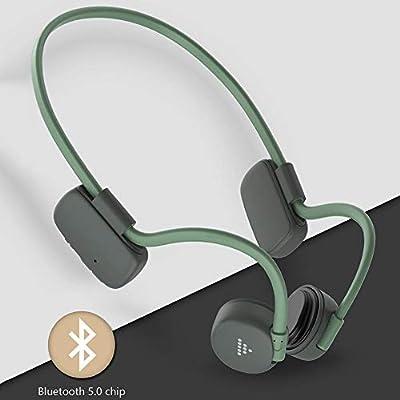 Xiangyin Bone Conduction Headphones Bluetooth 5.0 Open-Ear Wireless Sports Headsets, Sound Headset For Jogging Running Driving Cycling(gray Green/gray Black) by Xiangyin