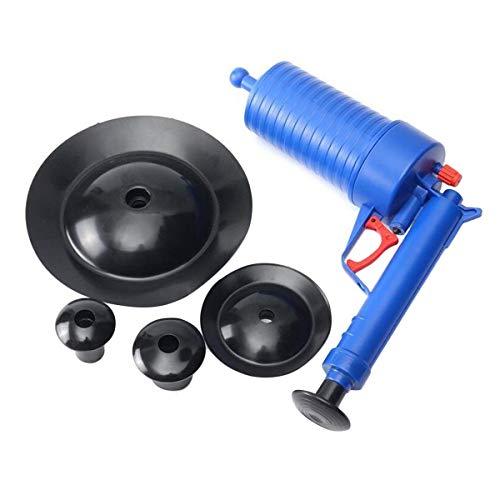 Greatangle Limpiador de desintegrador de Drenaje de Aire de Alta presión Inodoros de Dragado de tubería de plástico ABS Tuberías y desagües obstruidos con 4 adaptadores