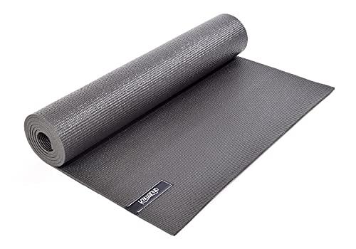 KAWANYO Yogistar - Esterilla de yoga (antideslizante, 173 x 61 x 0,6 cm), color gris