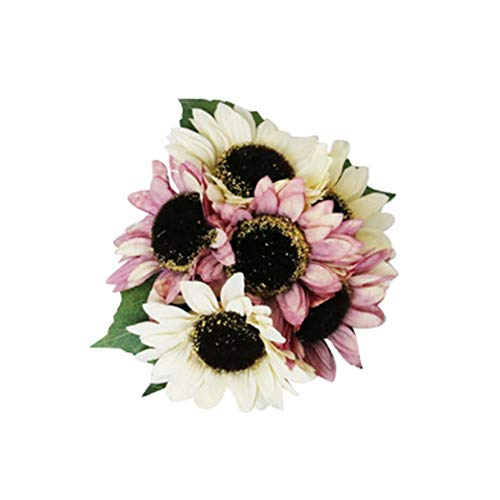 Artificial Flower Sunflowers for Home Garden Party Wedding Party Floral Decoration (Multicolor) (C)