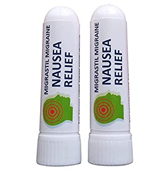 Migrastil Nausea Relief Inhaler  Pack of 2  - Pocket Size Nausea Relief Aromatherapy Inhaler with Natural Essential Oils - Fast Acting Gentle Relief for Feelings of Sickness & Nausea - 100% Natural