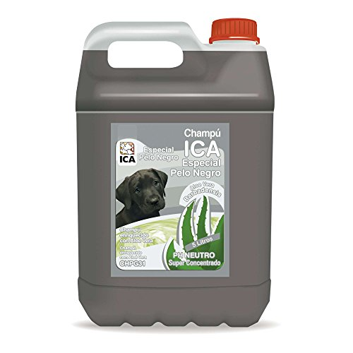 ICA CHPG31 Champú Especial Pelo Negro con Aloe Vera para Perros