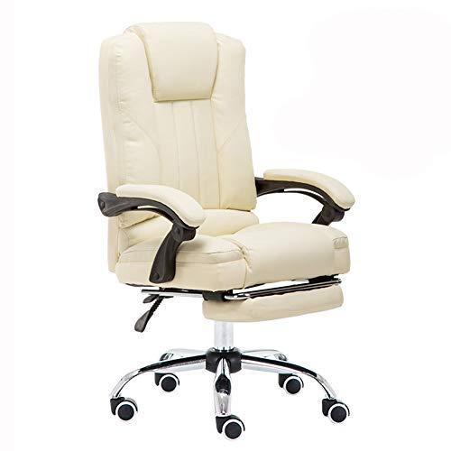 LJFYXZ Fauteuil De Direction Siège Ergonomique Chaise de Patron Confortable et incliné Chaise d'étude Réglable en Hauteur Sédentaire n'est Pas fatigué Portant Poids 200 kg Noir/Beige/Rose