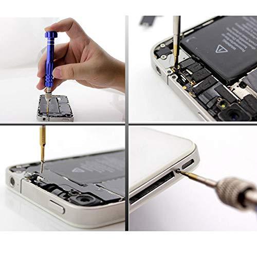 T5 T6 Torx Screwdriver Y000 screwdriver P5 Pentalobe Screwdriver 6 in 1 Precision Screwdriver Set for iPhone,iPad,Laptop,Macbook Air,Samsung,Eyeglass Repair Tools