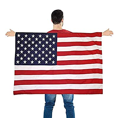 Amazon - Save 80%: American Flag Cape, Wearable USA Flag Costume Outfit with Sleeves Classic…