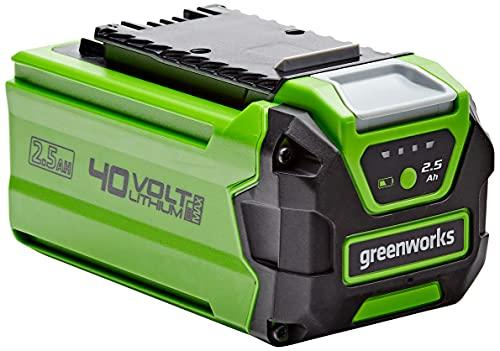 Greenworks Tools Batería G40B25 - Batería potente y recargable de Li-Ion 40V 2,5Ah, apta para todos los dispositivos de la serie de 40V de Greenworks Tools