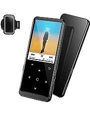 """32GB Reproductor MP3 Bluetooth 4.2-SUPEREYE MP3 Player con Grabarora, FM Radio, con Pantalla de Color de 2.4"""" y Botón Táctil, Soporte hasta 64GB Tarjeta(Brazalete Deportivo, Auriculares incluidos)"""