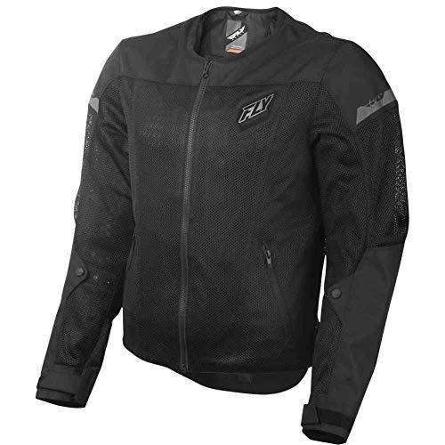 FLY Racing Flux Air Mesh Jacket, Motorcycle Jacket for Men and Women (BLACK, Medium)
