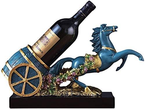 Estantería de vino Estante de vino Estante de vino Casa Creativa Casa Sala de estar Discoteca Artesanía Envío Vino Rack Vino Cooler Hogar Moderno Minimalista Minimalista Estante de vino (Color: Azul,