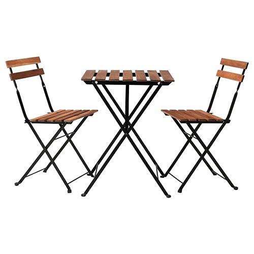 IKEA Gartentisch TÄRNÖ mit 2 Stühlen Akazie dunkelbraun