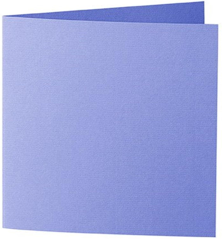 50 Stück    Artoz Serie 1001 Doppelkarten gerippt    Quadratisch, 260 x 130mm, hochwertig, veilchenblau B002JJ5A3C     Outlet Store