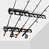 Homydom Fishing Rod Ceiling/Wall Storage Rack, Fishing Pole Holder for Garage & Cabin & Basement,...