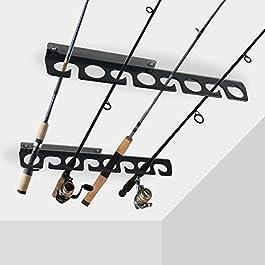 Homydom Support de Rangement pour Canne à pêche au Plafond pour Garage et Cabine et sous-Sol, très résistant – Peut…