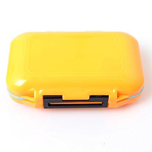Générique Lot de 2 boîtes de Rangement imperméables et respectueuses de l'environnement pour leurres et appâts avec 12 Compartiments Noir/Orange/Jaune