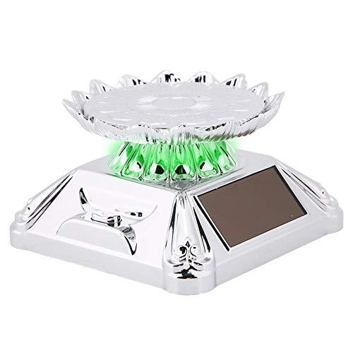 BHDD Soporte Giratorio de joyería, escaparate Solar Soporte de exhibición Giratorio de plástico para joyería, para Cadenas minoristas(Silver)