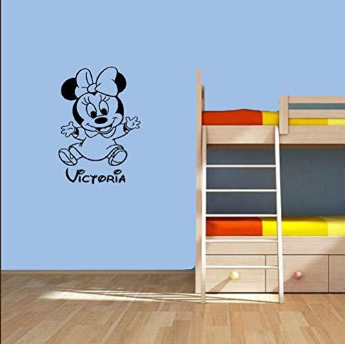 Autocollant Mickey Mouse Sticker Personnalisé Minnie Mouse Sticker Pépinière Personnalisé Bébé Nom Bande Dessinée Autocollant Décor À La Maison