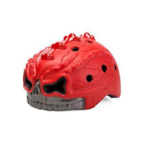 Pequeño monstruo rojo niños monopatín cascos de bicicleta de skate 48~52 cm scooter para niños pequeños cascos de escalada en roca Casco de ciclo para bicicleta ciclismo patinaje sobre hielo esquí