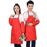 WQYH Delantal Babero Ajustable para Mujer Chefs para Hombres y Mujeres con...