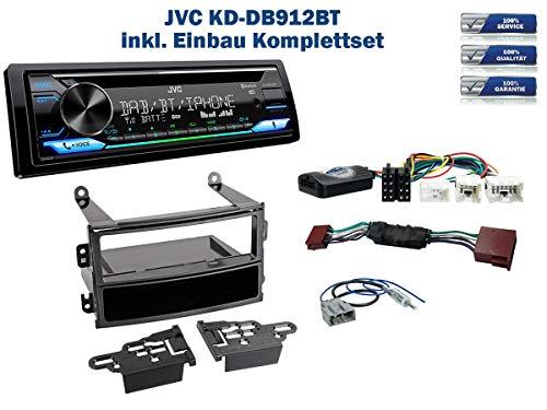 Autoradio Einbauset geeignet für Nissan 350Z inkl. JVC KD-DB912BT (DAB+) & Lenkrad Fernbedienung Adapter in Schwarz