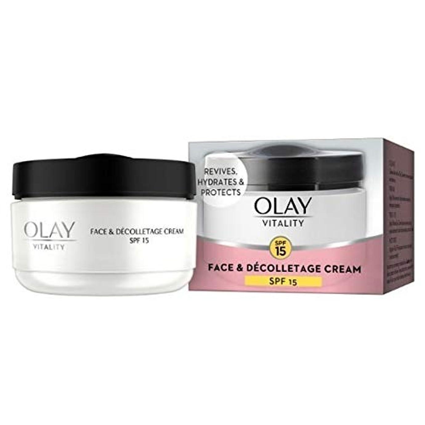 コーチノーブル主[Olay ] オーレイ活力フェイス&デコルテSpf15デイクリーム50Ml - Olay Vitality Face & Decolletage SPF15 Day Cream 50ml [並行輸入品]