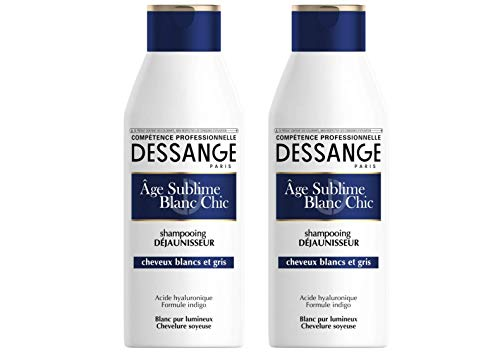 DESSANGE - Âge Sublime Orchidée Shampooing Déjaunisseur Cheveux Blancs Et Gris - 250 ml - Lot de 2