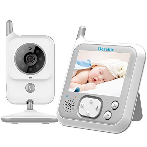 Babyphone mit Kamera 3.2 Zoll LCD Video Baby Monitor Bildschirm Nachtsichtkamera und Temperaturüberwachung,Zwei Wege Audio,Nachtsicht, Schlaflied,VOX
