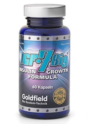 Goldfield IGF 7 BIG - Muskelaufbau Booster Kraft Ausdauer Blaster / Potenz und Stoffwechsel - 60 Kapseln