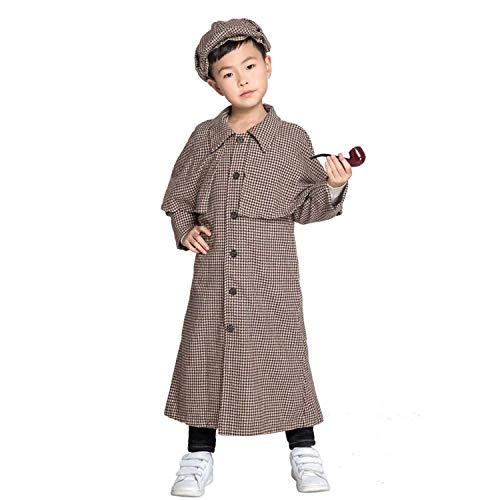 Disfraz De Sherlock Holmes para Niños Disfraz De Cosplay De Halloween para Niños Talla S, M, L, XL,L