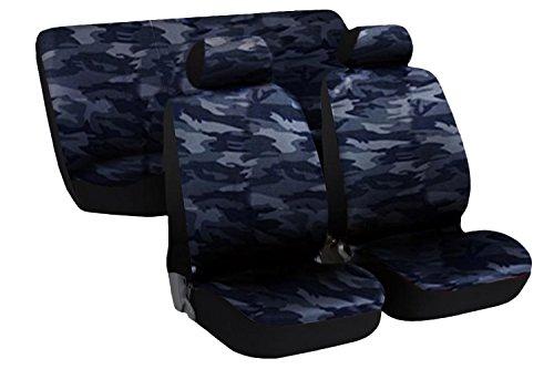 Lupex Shop Kleinwagen.MB Sitzbezüge für Auto Medium/Kleine Camouflage Blau