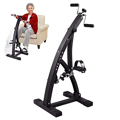 YVX Mini Bicicleta estática Ultra silenciosa, Equipo de Entrenamiento en Interiores para Ancianos, Bicicletas de rehabilitación para Entrenamiento de Miembros Superiores e Inferiores, Bicicletas